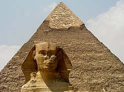 250px Sphinx und Chephren Pyramide