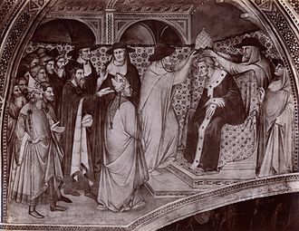 Antipope Paschal III - Election of Antipope Paschal III (fresco in the Palazzo Pubblico in Siena, by Spinello Aretino)