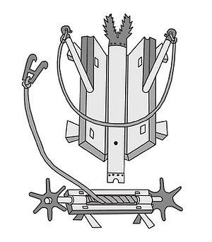 Bellifortis - Springald illustration from Konrad Kyeser's book Bellifortis