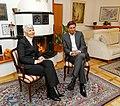 Srečanje predsednice Vlade Republike Hrvaške Jadranke Kosor in predsednika Vlade RS Boruta Pahorja ob njenem prihodu v Kranjsko goro 2010-01-13 (3).jpg