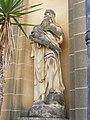 St. Benedict Joseph Labre Church Gozo facade statue 2.jpg