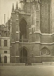 exterior view of ste chapelle 1903 chapelle de la sorbonne chappelle de la
