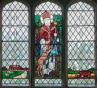 Chesterton, Warwickshire - Image: St. Giles Church, Chesterton stained glass 2016