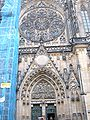 St. Vitus Cathedral west facade under renovation 10-04 2.JPG