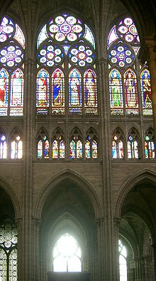 Interno della cattedrale di Saint-Denis in Francia