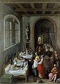 St Elizabeth visiting a hospital. Wellcome L0012688.jpg