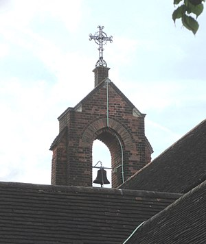 Bell-cot - Image: St Mary of Bethany's Church, Mount Hermon Road, Woking (June 2015) (Bellcot)