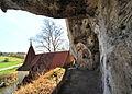 St Wendel zum Stein, eine spätgotische Kapelle wunderschön in die Felslandschaft an der Jagst integriert. 02.jpg