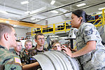 Staff Sgt. Jenelle Rodriguez shows C-130H components to Ohio CAP cadets.JPG
