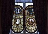 Stained glass windows in Gödöllő castle, Hungary.jpg