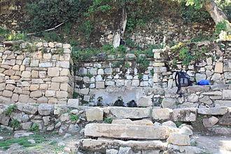 Isla del Sol - Inca fountain in Yumani, Isla del Sol