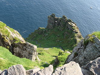 Skellig Michael - View of the south steps