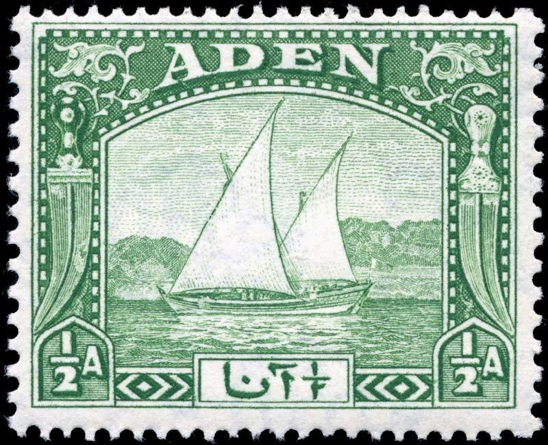 Stamp Aden 1937 0.5a
