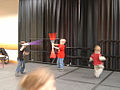 Star Wars Celebration III - kids test their lightsaber battle skills in their spare time (4878868226).jpg