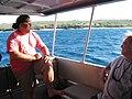 Starr-101230-6317-Cordia subcordata-habitat with Pono and Gerald aboard Ohua boat-Honokanaia-Kahoolawe (24692369309).jpg