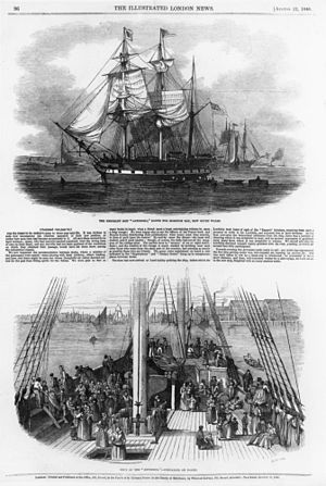 Colony of Queensland - Immigrants aboard the Artemisia arrived at the colony of Moreton Bay in 1848.