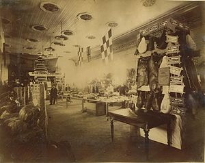 Townsville Showground - Produce on display at the Townsville Show, circa 1896