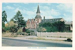 Daylesford, Victoria - Daylesford State School (b. 1875) post card