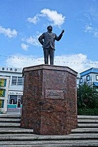 Statue of Errol W. Barrow. Bridgetown, Barbados.jpg