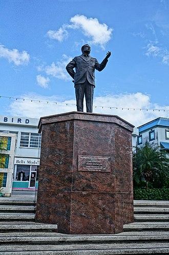 Errol Barrow - Statue of Errol Barrow at Independence Sq., Bridgetown, Barbados