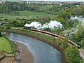 Steam train running up the Esk Valley - geograph.org.uk - 1579621.jpg