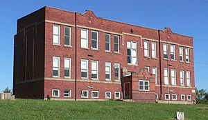 National Register of Historic Places listings in Jefferson County, Nebraska - Image: Steele City, Nebraska school from NW 4