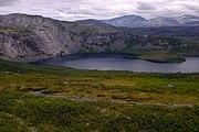 Steinfjellvatnet lake seen from Steinfjellet.jpg