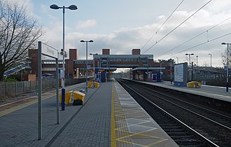 Stevenage railway station - Looking southbound from Platform 2