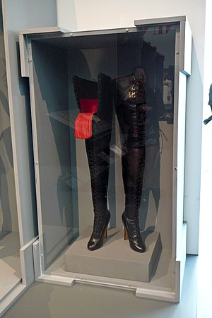 Thigh-high boots - Pair of fetish boots, c. 1900, from a Los Angeles County Museum of Art exhibit.