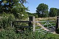 Stile and footpath to Mundford - geograph.org.uk - 546669.jpg