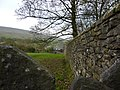 Stile and wall adjacent to path to Downham - geograph.org.uk - 1583744.jpg