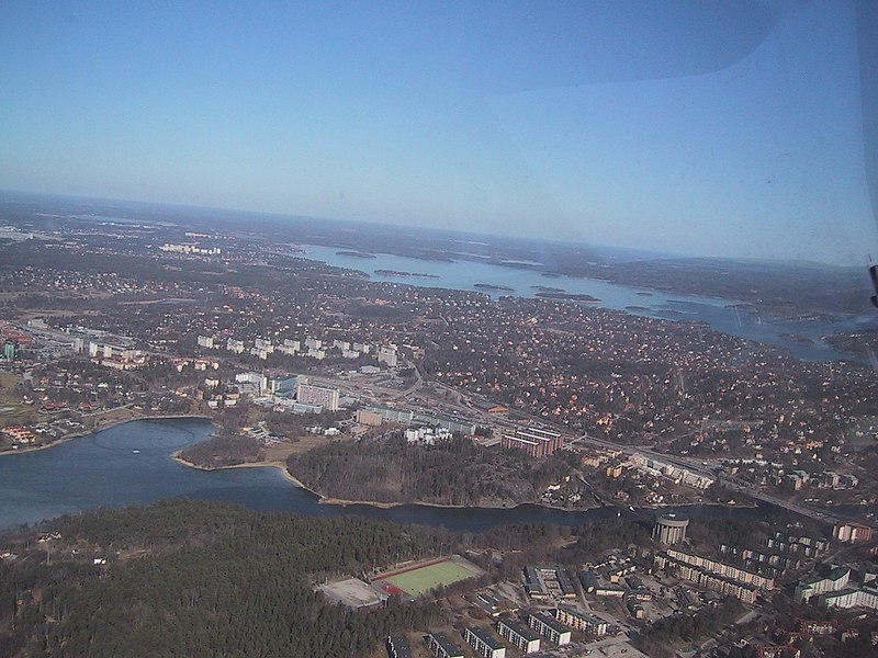 File:Stockholm, view from plane.jpg
