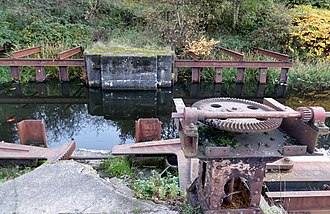 Canal Safety Gates - The Stockingfield Narrows 'Safety Gates'.