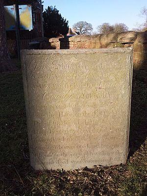 Surfleet - Samuel Stockton's inscribed headstone