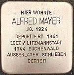 Stolperstein für Alfred Mayer (Bruchstraße 31)