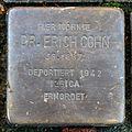 Stolperstein Karlsruhe Erich Cohn Beiertheimer Allee 28 (fcm).jpg