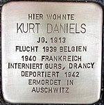 Stolperstein für Kurt Daniels (Alte Krefelder Straße 39)