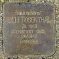 Stolperstein Lilli Rosenthal (Rossbrunnenstraße 6 Butzbach) 01.jpg