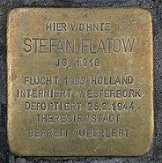 Stolperstein Schlüterstr 49 (Charl) Stefan Flatow
