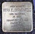 Stolperstein Wildenbruchplatz 10 (Neukö) Vera E Birkenfeld.jpg