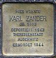 Stolpersteine Krefeld, Karl Zander (Ostwall 48).jpg