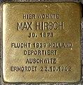 Stolpersteine Krefeld, Max Hirsch (Hochstraße 62).jpg