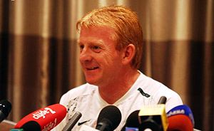 Gordon Strachan - Strachan ahead of Celtic's Champions League qualifier against Spartak Moscow, August 2007