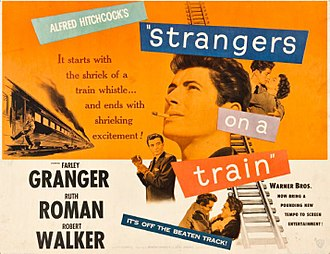 Strangers on a Train (film) - Poster by Bill Gold