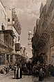 Street scene with the El Mooristan mosque, Cairo, Egypt. Col Wellcome V0049372.jpg