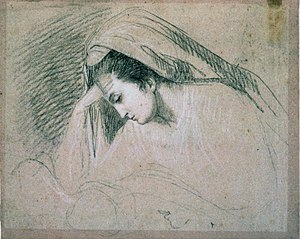 Study for the Head of the Virgin (in the Nativity)