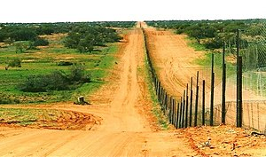 Sturt National Park - The Dingo Fence in Cameron Corner, located on the northern boundary of the national park