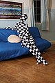 Stylish check patternd Zentai.jpg