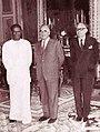 Suratissa Wijeyeratne with Georges Pompidou and Maurice Schumann.jpg