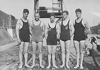 Washington Huskies - Photograph of the 1921 swim team by Webster and Stevens
